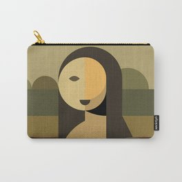 Mona Lisa Abstract Carry-All Pouch