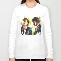 pulp fiction Long Sleeve T-shirts featuring Pulp Fiction by Miquel Cazanya