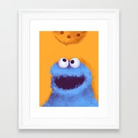 cookies Framed Art Prints featuring Cookies  by Lime