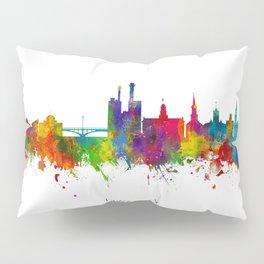 Iowa City Iowa Skyline Pillow Sham