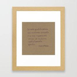 Giustificare l'esistenza Framed Art Print