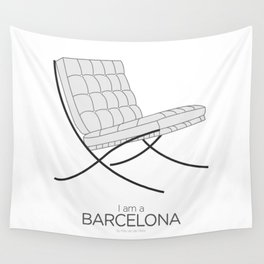 Chairs - A tribute to seats: I'm a Barcelona (poster) Wall Tapestry