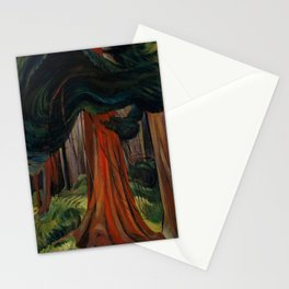 Emily Carr - Red Cedar - Canada, Canadian Oil Painting - Group of Seven Stationery Cards