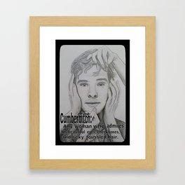 Cumberbitch Framed Art Print