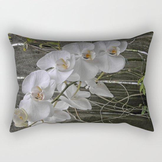 White Moth Orchid Rectangular Pillow