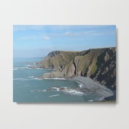 MORWENSTOW COAST CLIFFS FROM SHARPNOSE POINT CORNWALL Metal Print
