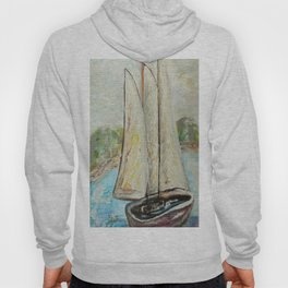 On a Cloudy Day - Impressionistic Art Hoody