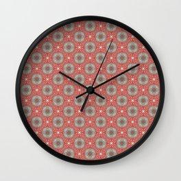 Coral Geometric Pattern #1 Wall Clock