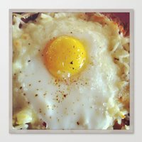 egg Canvas Prints featuring Egg by Yellow Barn Studio