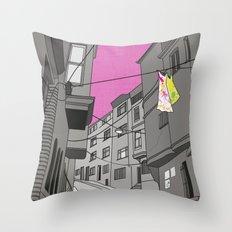 Historical Street View Throw Pillow