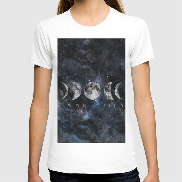 Moon Child Luna Watercolor T-shirt
