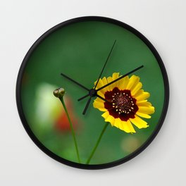 Coreopsis Flower Wall Clock