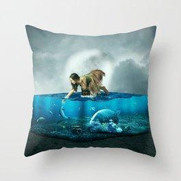 The lost Aquarium Throw Pillow