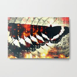Wilted Flower Butterfly Metal Print