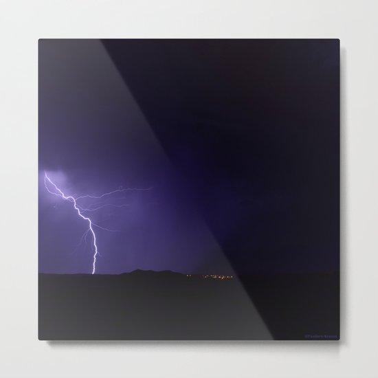 Lightning Strikes - II Metal Print
