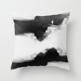 Hello from the The White World Throw Pillow