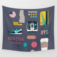 nyc Wall Tapestries featuring NYC by 914k