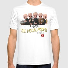 the Modal Nodes White SMALL Mens Fitted Tee