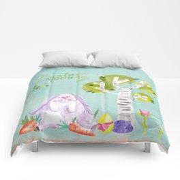 Easter Morning I- Animal Rabit Hare Bunny Spring for children Comforters
