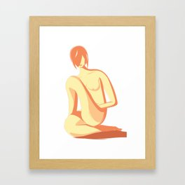Naked - Appreciating the woman's body Framed Art Print