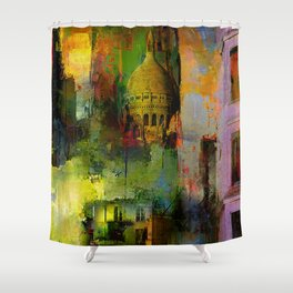 In a street of Paris Shower Curtain