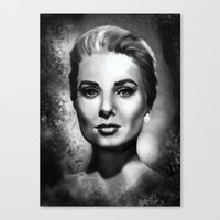 grace Canvas Prints featuring Grace by Lily Fitch