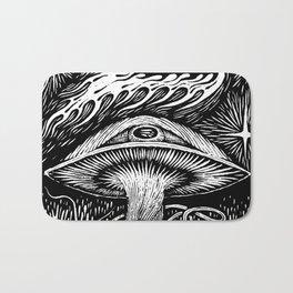 Magic mushroom is watching Bath Mat