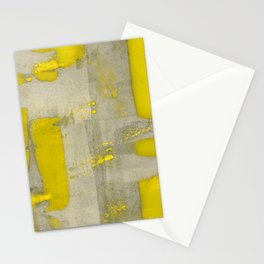 Stasis Gray & Gold 4 Stationery Cards