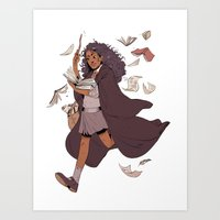 hermione Art Prints featuring Hermione by batcii