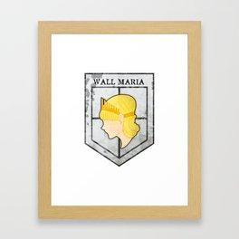 Wall Maria Framed Art Print