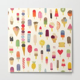 Pop Pop Popsicles! Metal Print