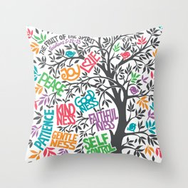 Fruit Of The Spirit (Full Color) Throw Pillow