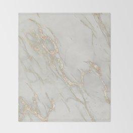 Marble Love Bronze Metallic Throw Blanket