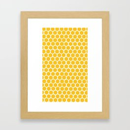 Honey-coloured Honeycombs Framed Art Print