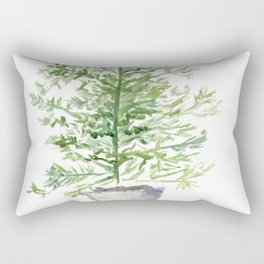 Christmas Tree in Galvanized Bucket Rectangular Pillow
