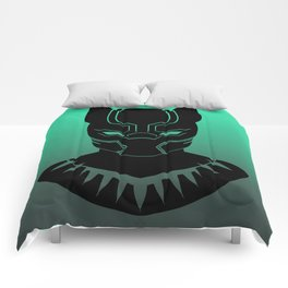 Black Panther Minimalist TEAL Variant Comforters