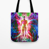 "matrix Tote Bags featuring ""The matrix "" by shiva camille"