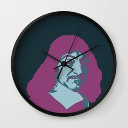 Rene Descartes Wall Clock