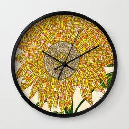 Georgia Sunflower Wall Clock