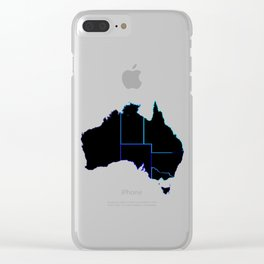 Australia States In Silhouette Clear iPhone Case