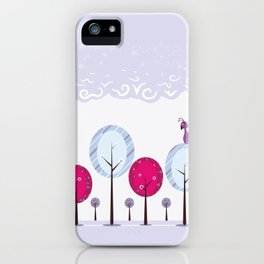 Pastel Dream Trees iPhone Case