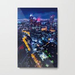 Tokyo at night - Photography Metal Print