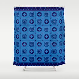 The Directions (Blue) Shower Curtain