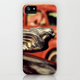 Winged Woman Hood Ornament iPhone Case