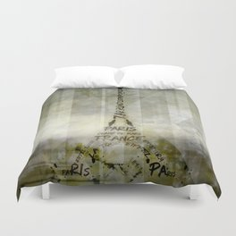 Digital-Art PARIS Eiffel Tower | Geometric Mix No.1 Duvet Cover