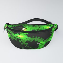Green luminous lace from circles and balls. Fanny Pack