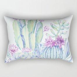 Mixed Cacti Light Blue #society6 #buyart Rectangular Pillow