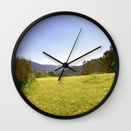 Wild Daises Wall Clock