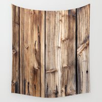 wood Wall Tapestries featuring Wood by Patterns and Textures