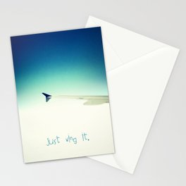 Just wing it.  Stationery Cards